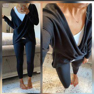 New💜Criss cross yoga/lounge sweater